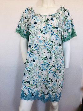 Blau/Grün gemustertes Nachthemd von Valery / Größe 34/36