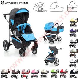 Pais - Kombikinderwagen - Buggy, Sportwahen mit Kinderwagenaufsatz