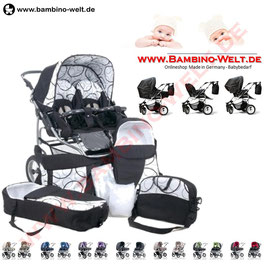 duo scen zwillingskinderwagen kinderwagen f r zwillinge. Black Bedroom Furniture Sets. Home Design Ideas