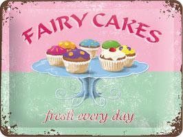 Blechschild Fairy Cakes