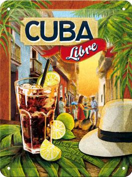 Blechschild Cuba Libre