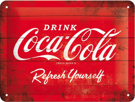 Blechschild Coca Cola