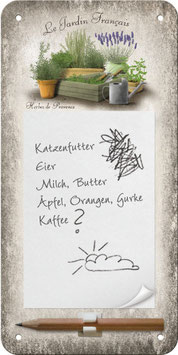Blech-Notizblock Herbes de Provence