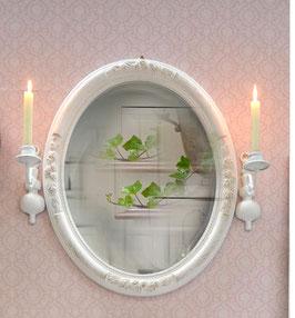 Freija - Shabby-Chic Spiegel mit Rosendekor