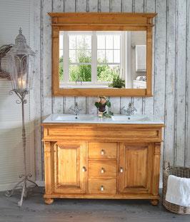 """""""Monaceau"""" Landhaus-Waschtisch-Unterschrank mit Waschbecken aus Keramik"""