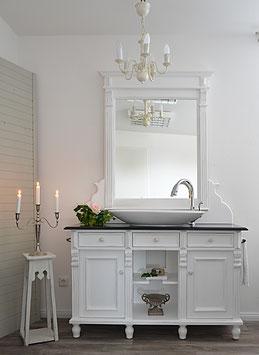 """""""Bellemaison""""Großer Landhaus-Waschtisch mit Spiegelaufsatz"""