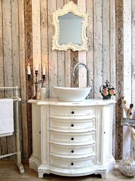 VERKAUFT: Vintage Waschtisch, Elegante Waschkommode im Shabby-Chic