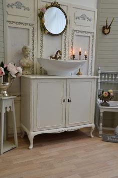 """""""Katty"""": Vintage Waschkommode, Waschtischunterschrank inkl. Waschbecken"""