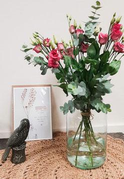 Lisianthus roze boeket