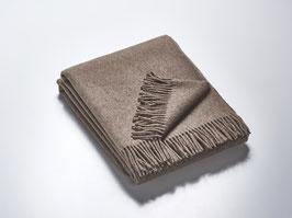 Wollplaid schlamm 100 % Merinowolle - 140 x 190