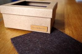 6er-Set Glasuntersetzer 100 % Merino-Wollfilz anthrazit meliert