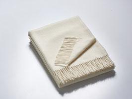 Wollplaid naturweiß 100 % Merinowolle - 140 x 190