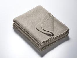 Wolldecke grau meliert 100 % Merinowolle - 155 x 200