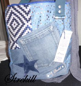 LIBERTY : bandoulière Bleu Jean