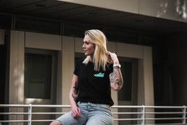 Mesh & Laces T-shirt schwarz