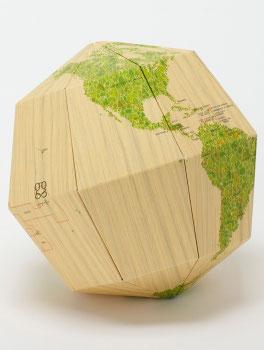 Papier-Globus Holz