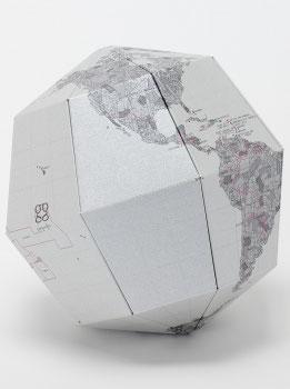 Papier-Globus Metall