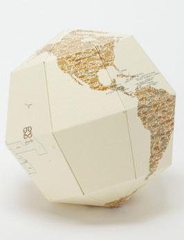 Papier-Globus Leder