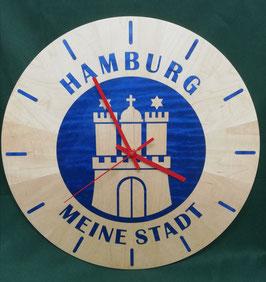 """Intarsien Wanduhr """"Hamburg Meine Stadt"""""""
