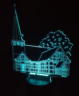 Acryl Motiv St. Petri u Pauli mit LED Lichtsockel