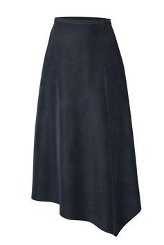 High Waist Oblique Hem Skirt