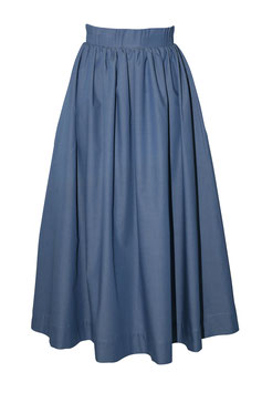 Box Pleat High Waist Skirt