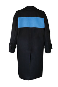 COLOUR BLOCKING FINE WOOL COAT