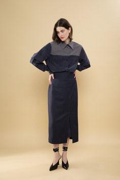 Midi Pencil Skirt Pinstripes