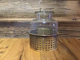 Vase [Glas und Metall]