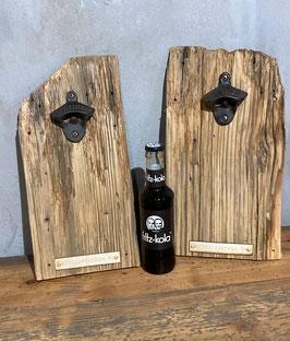 Vintage Flaschenöffner mit Brett