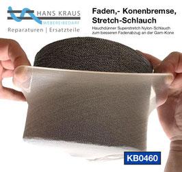 KB0460 Fadenbremse, Konenstrumpf,  Stretch-Schlauch, Konenschlauch, Garnkonenschlauch, dehnbar für 30-90cm Konen-Durchmesser Ø