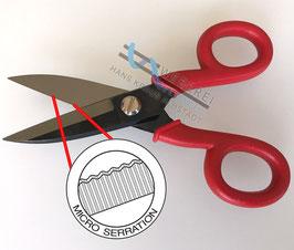 Mikroverzahnte Weber-Handschere für Kevlar-, Aramid-, Glasgarne gehärteter Edelstahl Kunststoffgriff