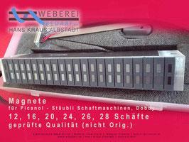 Magnetbalken 20 Schäfte,  adaptabel für Stäubli Schaftsteuerung, geprüfte Qualität