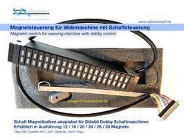 Magnetbalken 12-28 Schäfte,  adaptabel für Stäubli Schaftsteuerung, geprüfte Qualität