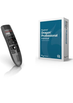 Dragon Professional Medisch met draadloze Philips SpeechMike AIR
