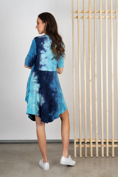 Batikkleid mit Reißverschluss