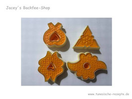 Duo Stempel Set orange 4 tlg.