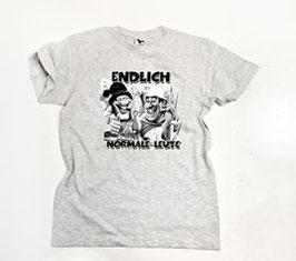 Endlich normale Leute ( 2 Köpfe Comic ) Shirt Grau
