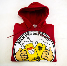 Köln Dortmund Freunschaft Bier Hoodie Rot