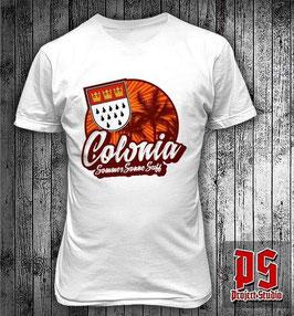 Köln Colonia Sommer Sonne Suff Shirt weiss