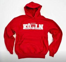 Köln Meine Stadt Mein Verein Hoodie Rot