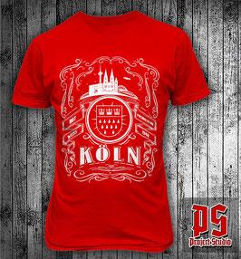 Köln Stadtwappen Skyline Rahmen Shirt
