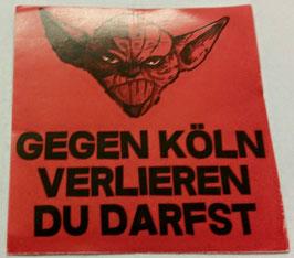 150 Köln Yoda verlieren du darfst Aufkleber