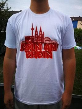 Köln Graffiti Köln am Rhein Shirt weiss