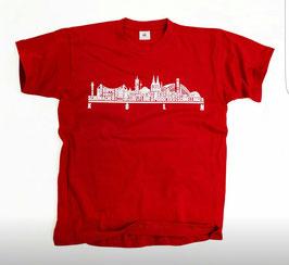 Köln Namen Skyline Rot