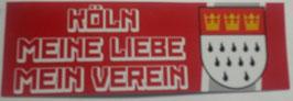 150 Köln Meine Liebe Aufkleber länglich