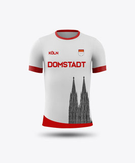 Köln Domstadt mit Dom Trikot weiss