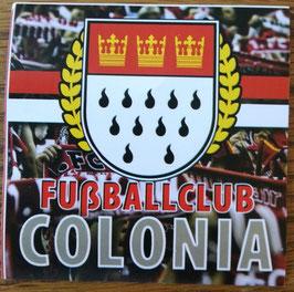 150 Köln Fussballclub Colonia Lorbeerkranz Stadtwappen Kurvenbildhintergrund Aufkleber