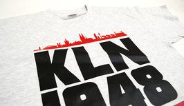 Köln 1948 Rote Skyline Shirt Grau