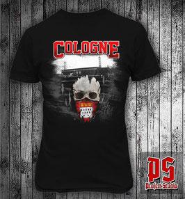 Köln Stadion Totenkopf Shirt